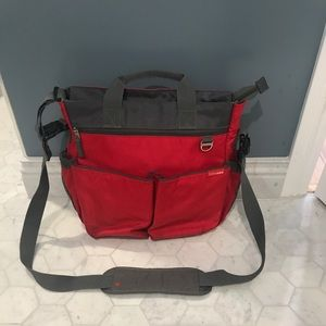 Skip Hop Red Unisex Diaper Bag